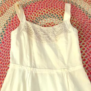 Vintage White Sundress with embroidery detail